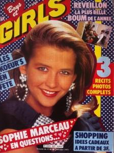 Girls 207 décembre 1983 SOPHIE MARCEAU KIM WILDE